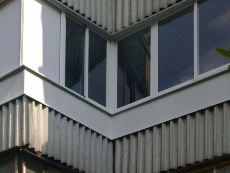Остекление балкона серии п44 сапожок..