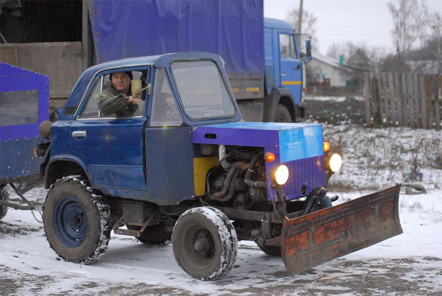 Как сделать самодельный трактор из машине