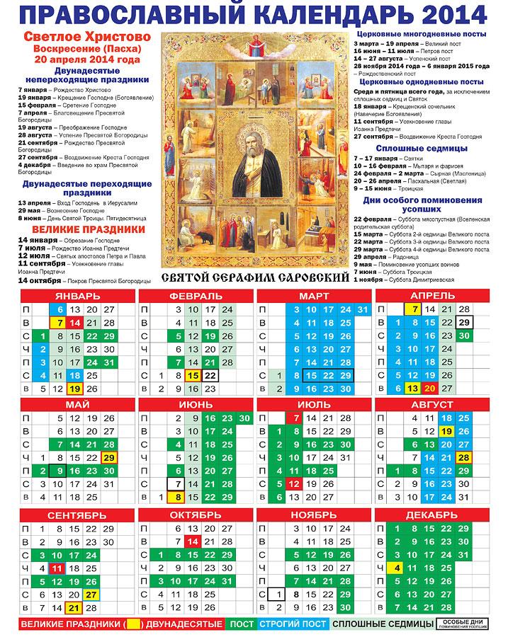 в какие дни будут церковные праздники