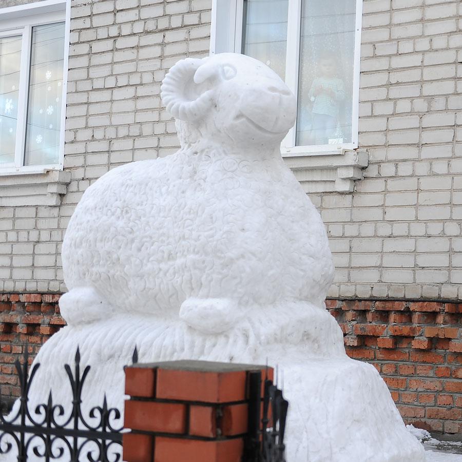 фото из снега козы
